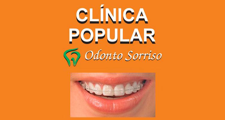 Logo Clinica Popular Odonto Sorriso - R/T Aguinaldo Aparecido P. de Campos CROSP - PV 01034/2017
