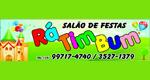 Logo Salão de Festa e Eventos Rá Tim Bum