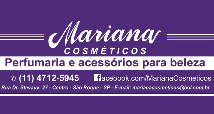 Logo Mariana Cosméticos