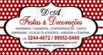 Logo D A  Festas & Decorações