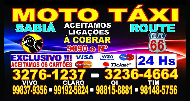 Logo Moto Táxi Route 66 ferraz