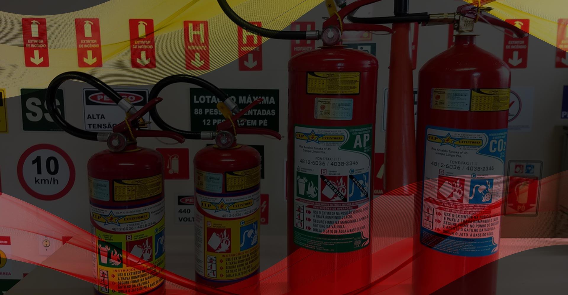 CLP Extintores possui equipamentos de segurança de altíssima qualidade contra incêndios.