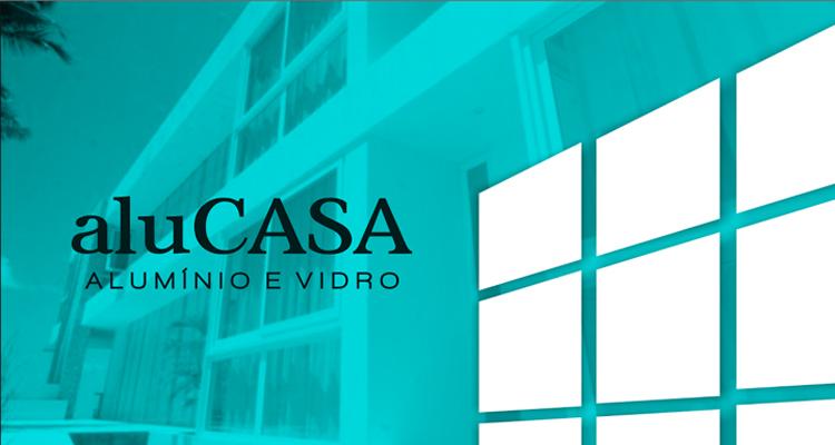 Logo AluCasa Alumínio e Vidro