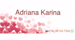 Adriana Karina Lingerie Delivery