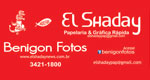 Logo El Shaday Papelaria, Gráfica Rápida e Benigon Fotos