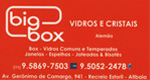 Logo Big Box Vidros e Cristais