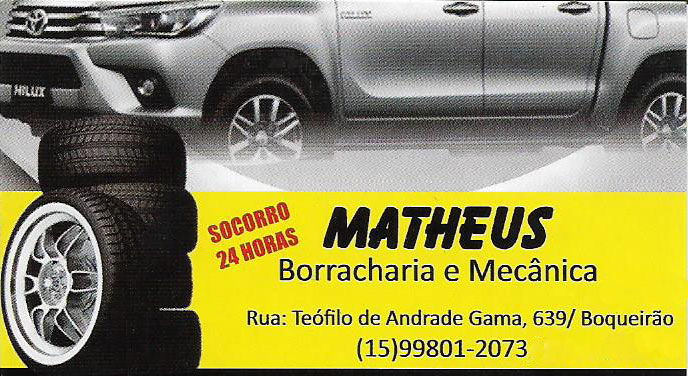 Logo Matheus Borracharia, Mecânica e Auto Elétrica