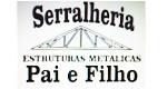 Logo Serralheria Estruturas Metálicas Pai e Filho