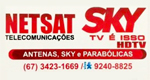 Logo Net Sat Telecomunicações