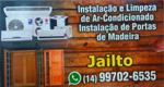 Logo Jailto Instalações e Limpeza de Ar Condicionado e Instalação de Portas de Madeira