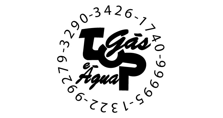 Logo Top Gás Água e Mercearia