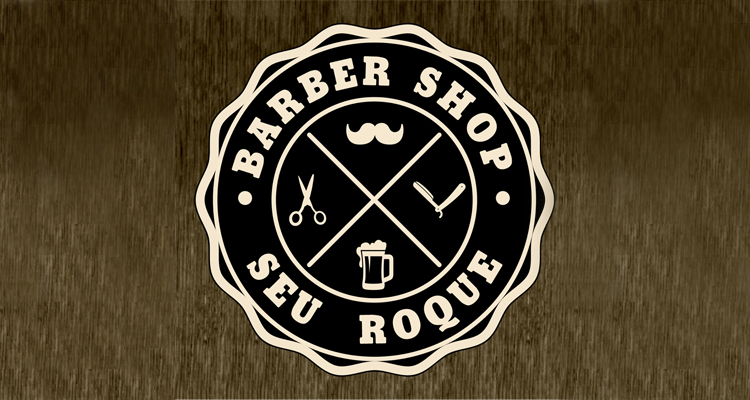 Logo Barber Shop Seu Roque
