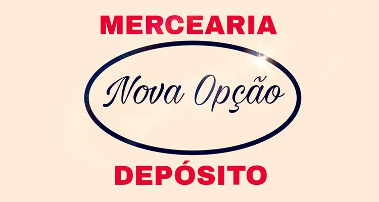 Logo Mercearia & Depósito de Bebidas Nova Opção