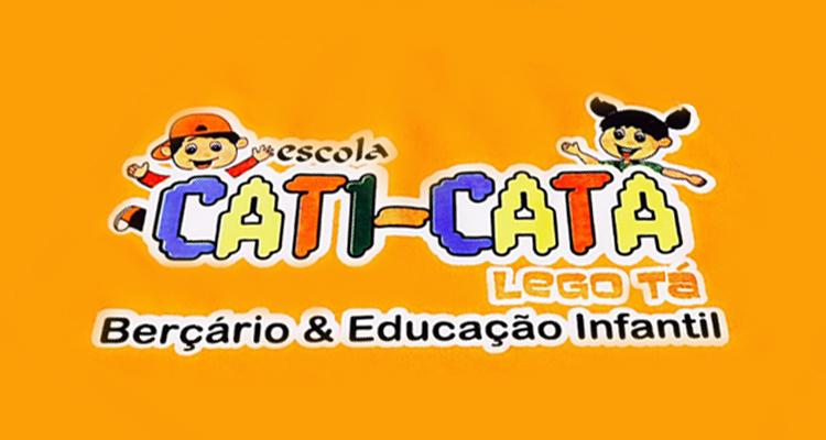 Logo Escola Cati Cata Lego Tá