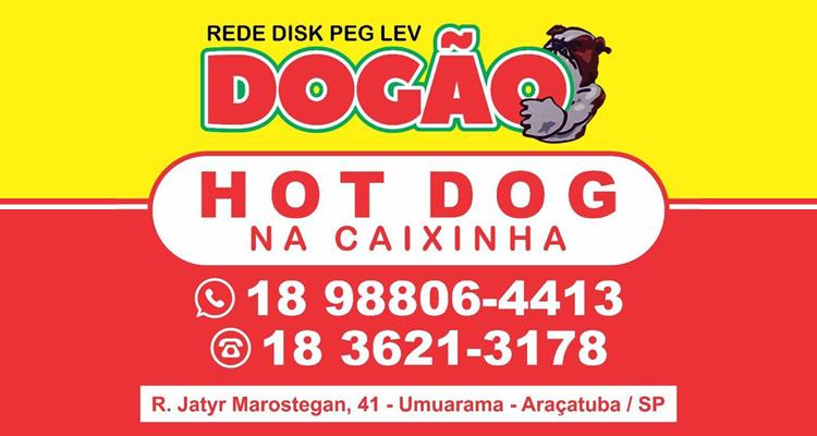 Logo Rede Disk Peg Lev Dogão - Umuarama