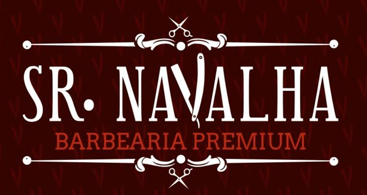 Logo Sr. Navalha Barbearia Premium