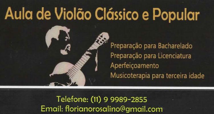 Aulas de Violão Clássico e Popular - Floriano Rosalino