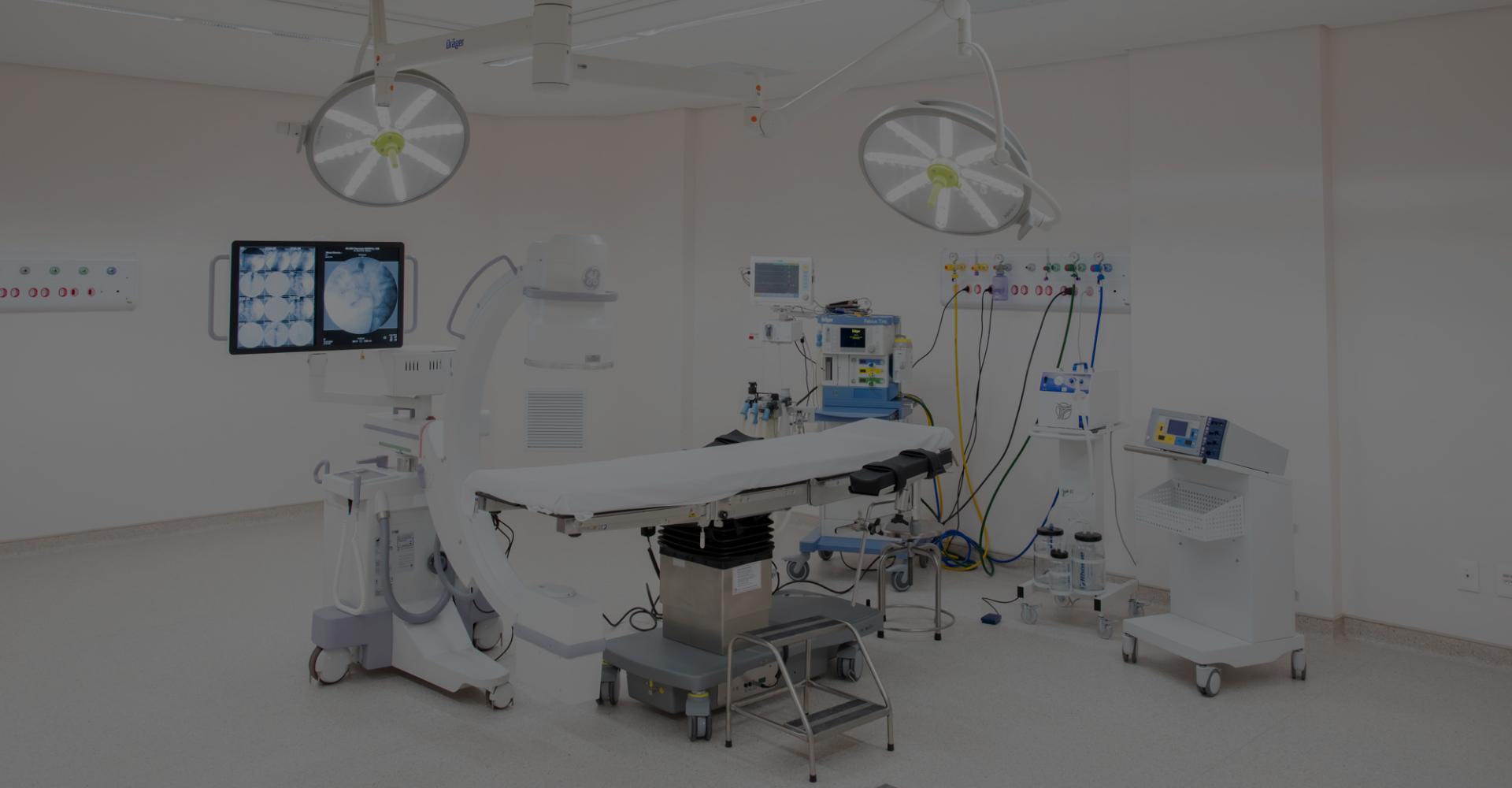 Equipado para cirurgias de alta complexidade