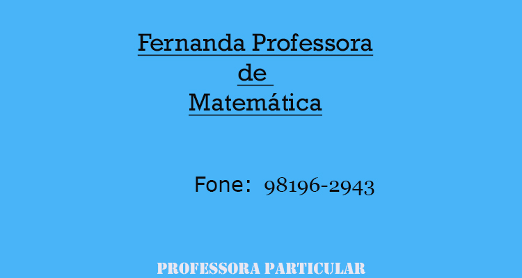 Fernanda Professora de Matemática