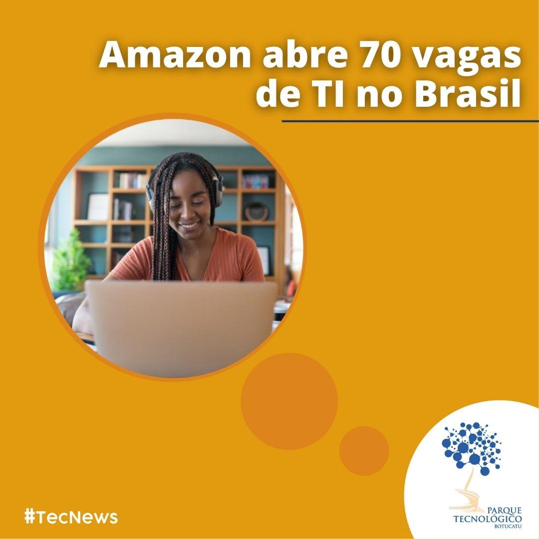Amazon abre vagas para profissionais de TI