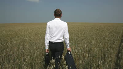 stock-footage-the-rear-view-of-a-young-businessman-heading-towards-the-horizon-across-the-field