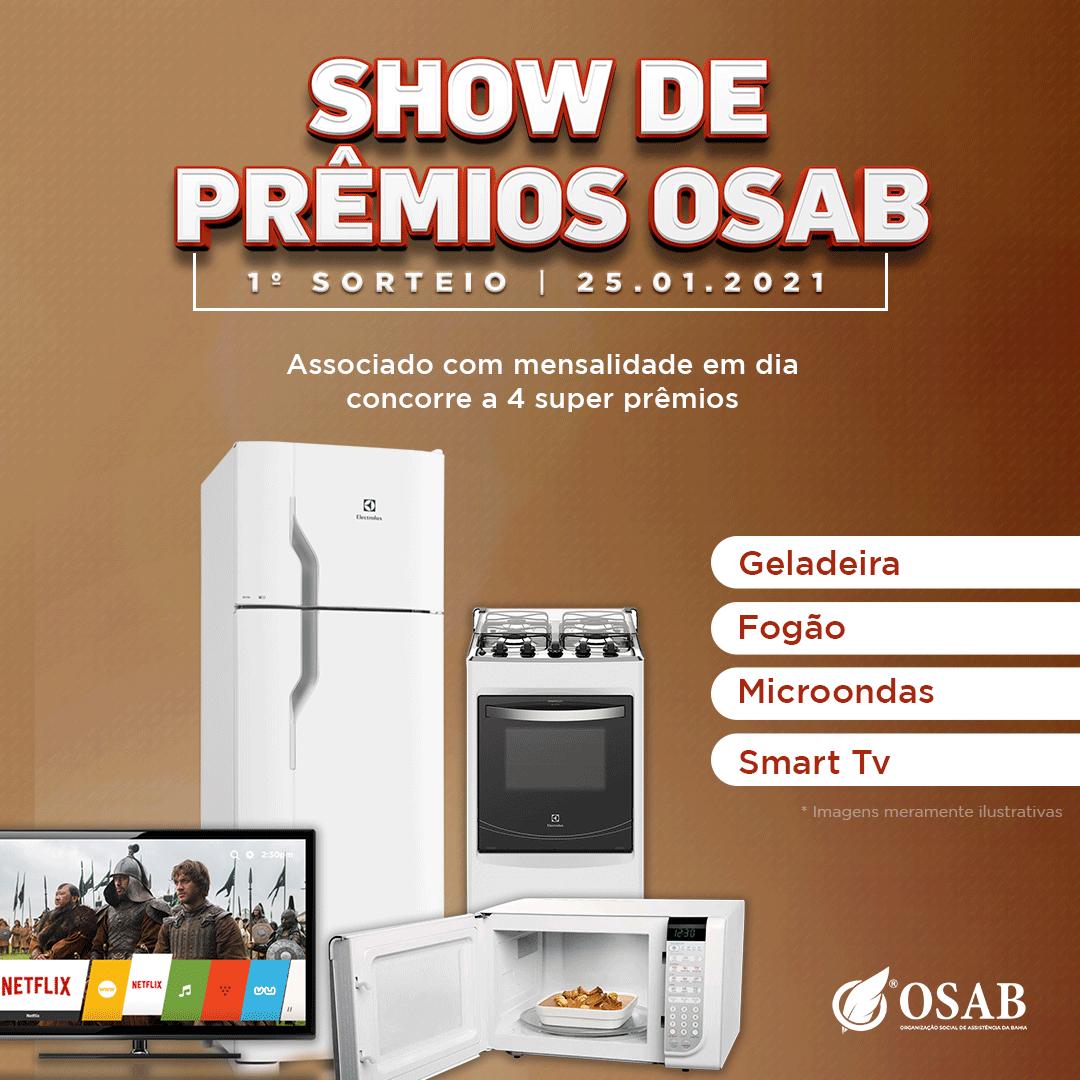 SHOW DE PREMIOS - OSAB JANEIRO